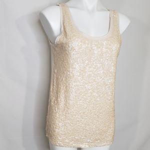 J.Crew Light Pink Sequined Tank Top Size Med